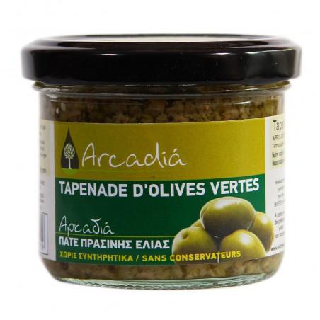 Pâte d'olive verte bio à l`ail et à l'origan ARCADIA - 100 g