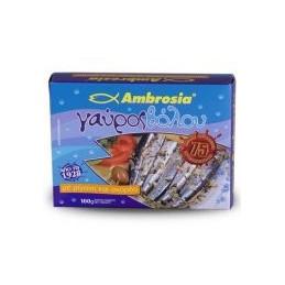 Anchois de Volos à l'ail et à l'origan AMBROSIA - 100 g