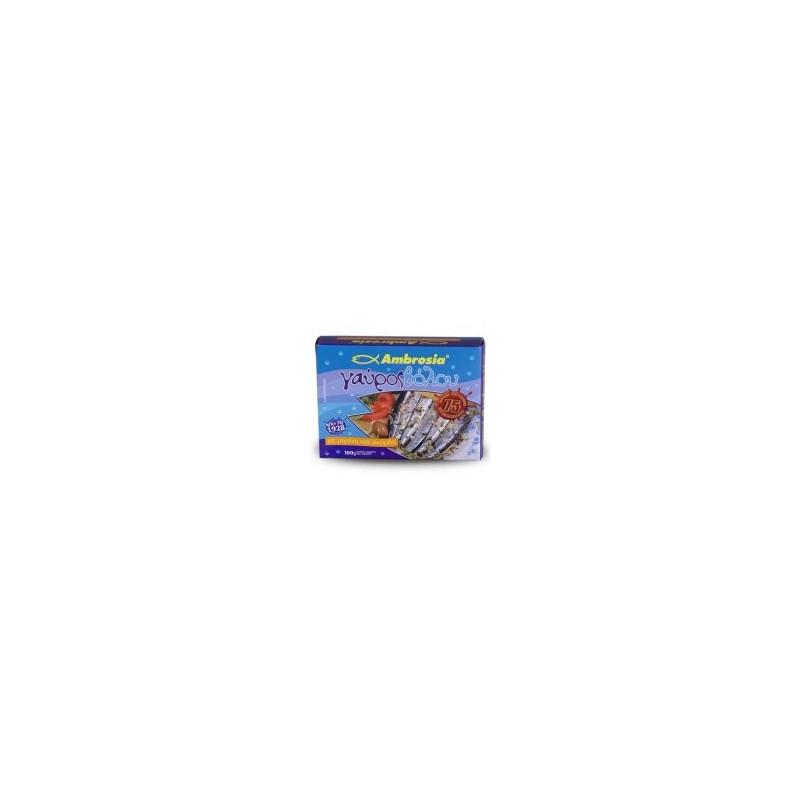 Anchois de VOLOS à l'ail et à l'origan AMBROSIA - 100 gr