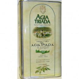 Huile d'olive de Crète - Monastère AGIA TRIADA - Bidon 3 litres.