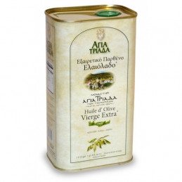 Huile d'olive de Crète bio - monastère AGIA TRIADA  2013 - Bidon 3LL