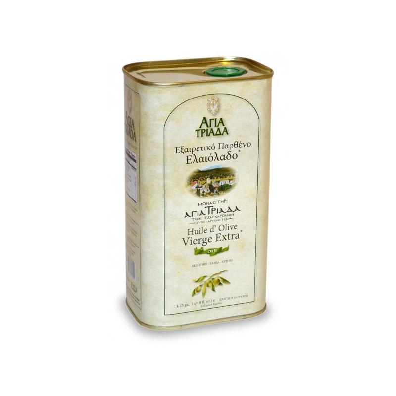 Huile d'olive de Crète - Monastère AGIA TRIADA - BIDON 1 litre.