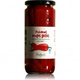 Poivrons rouges bio de Florina grillés BIO AGROS - 350 g net égoutté