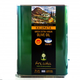 Huile d'olive grecque IGP KALAMATA - ARCADIA - Bidon 3 litres