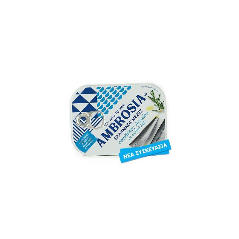 Sardines de l'Égée à l'huile AMBROSIA - 100 g