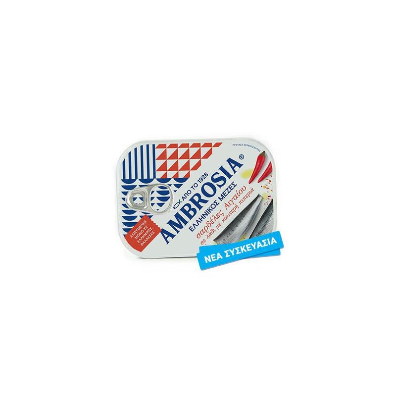 Sardines de l'Égée sauce piquante AMBROSIA - 100 g