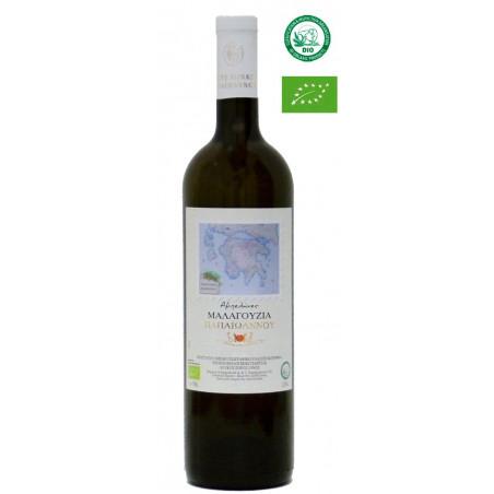 Vin grec bio MALAGOUZIA blanc 2018 - IGP Corinthe - Domaine PAPAIOANNOU ( Némée) - 75 cl