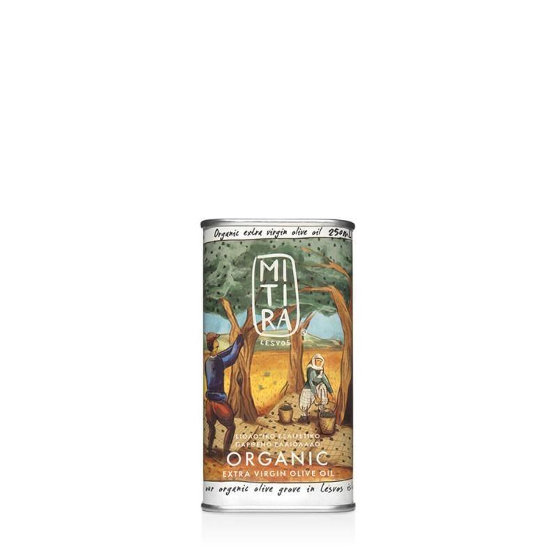 Huile d'olive grecque biologique MITIRA  IGP Lesvos Mytilini - Bidon 250 ml
