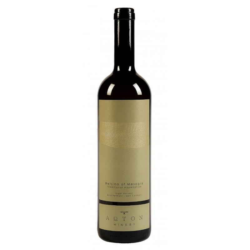retsina AOTON assurément le meilleur vin blanc grec résiné du marché