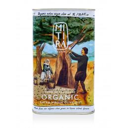 Huile d'olive biologique artisanale ile Lesvos IGP Mytilini  Grèce 1ère extraction à froid fruitée douce et équilibrée bidon 1 l