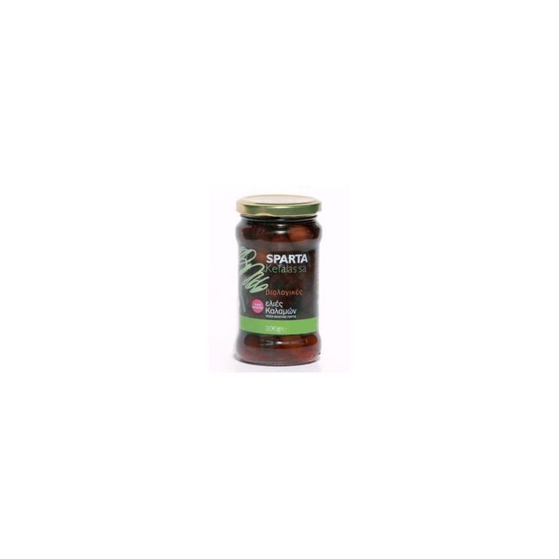 """Olives grecques """" KALAMATA"""" biologiques dénoyautées  - 300 gr"""