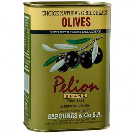 """olives """"Kalamata"""" SAPOUNAS à l'huile d'olive - boite 500 g net égoutté"""